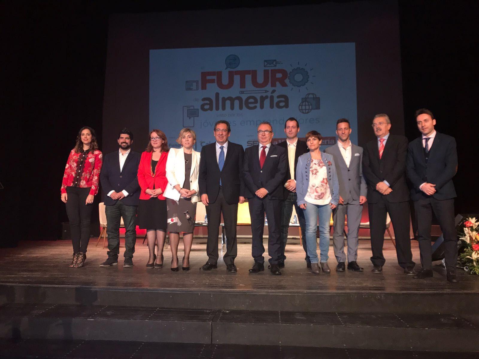 Antonio Pulido en la Jornada El futuro de Almería desde los jóvenes emprendedores