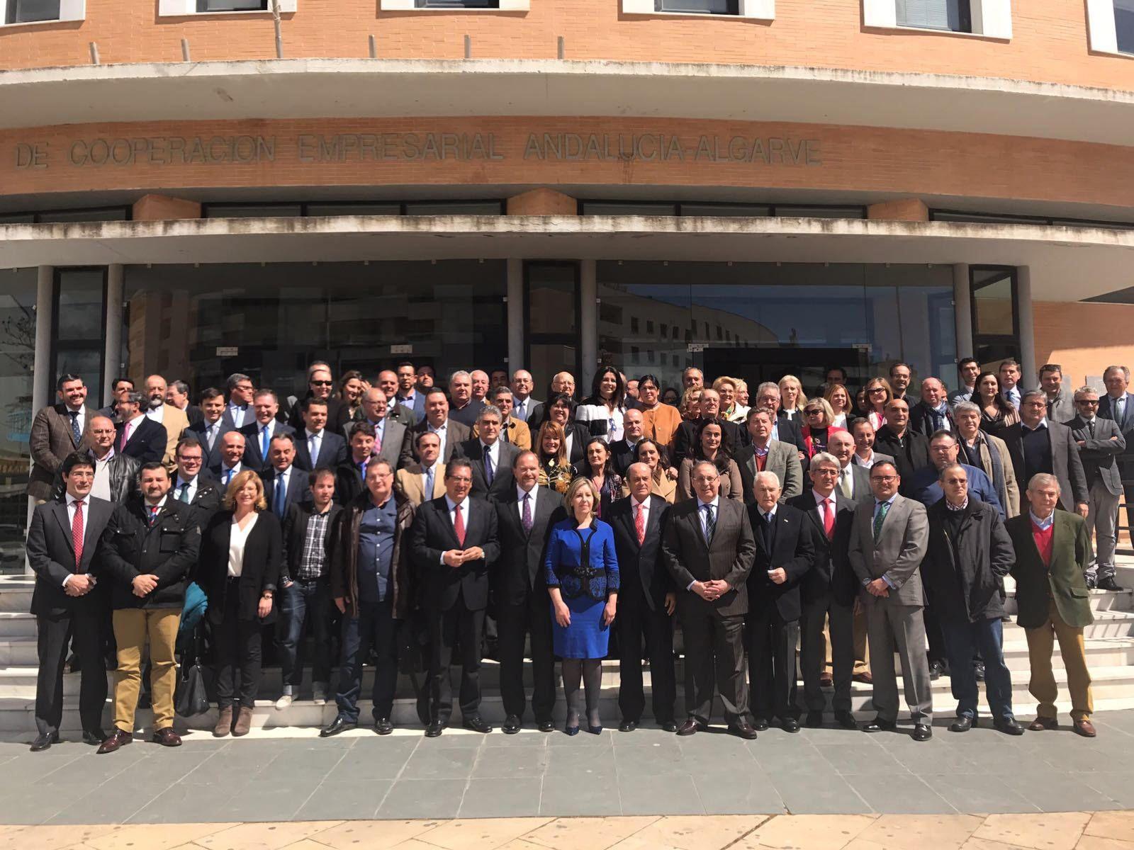 Antonio Pulido en el aniversario de la Federación Onubense de Empresarios