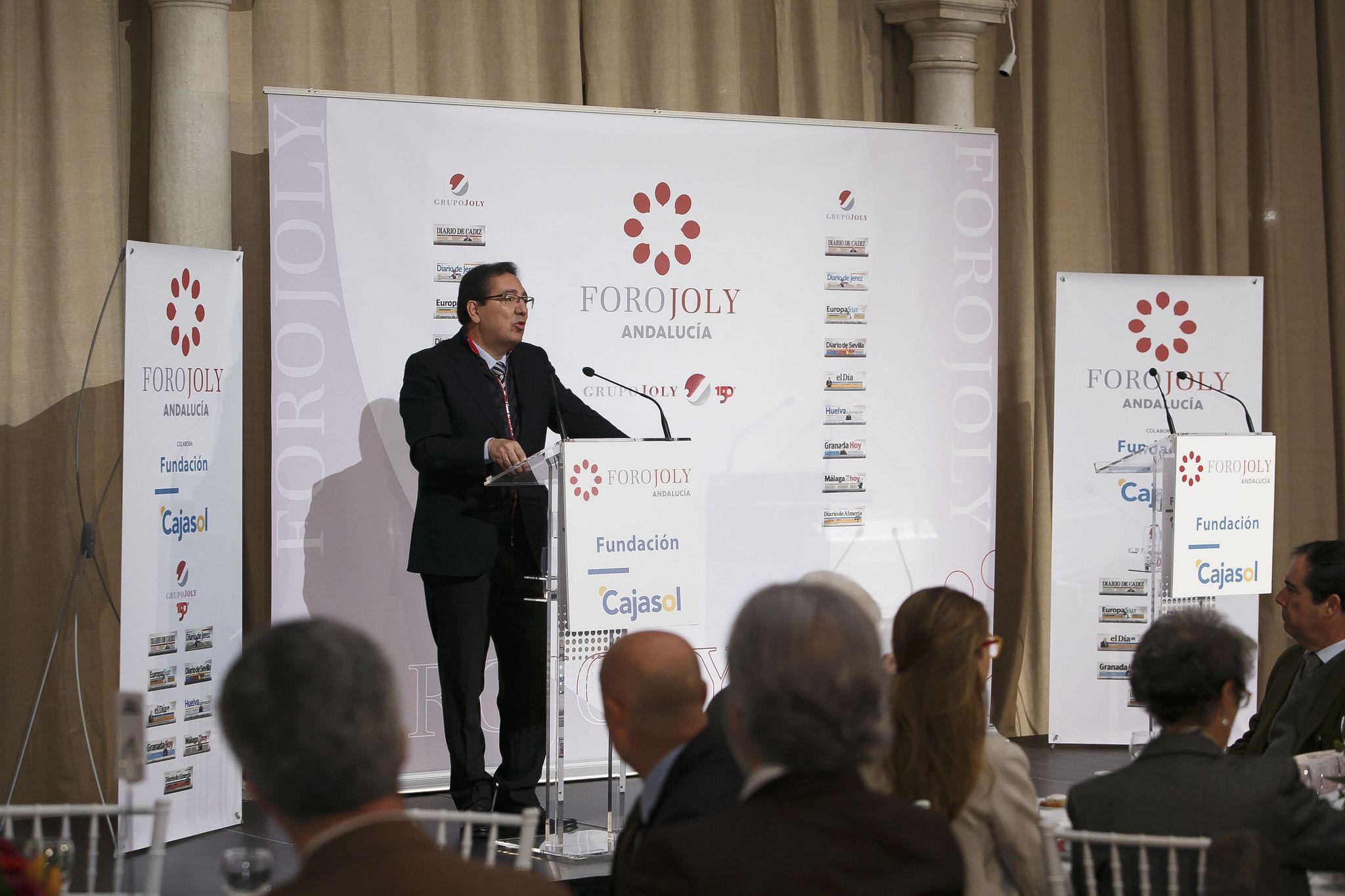 Antonio Pulido en el Foro Joly con Gregorio Marañón desde la Fundación Cajasol