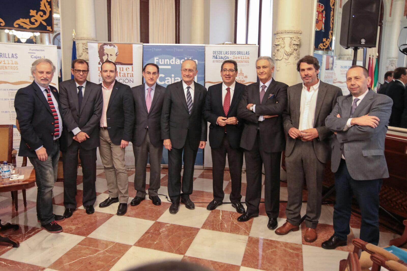 Antonio Pulido en la Jornada 'Dos Orillas' Sevilla-Málaga organizada por la Fundación Manuel Alcántara