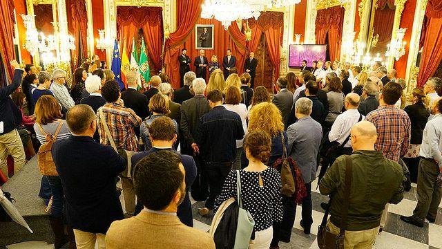 Antonio Pulido, Presidente de la Fundación Cajasol en la Inauguración de la Exposición Tricentenario