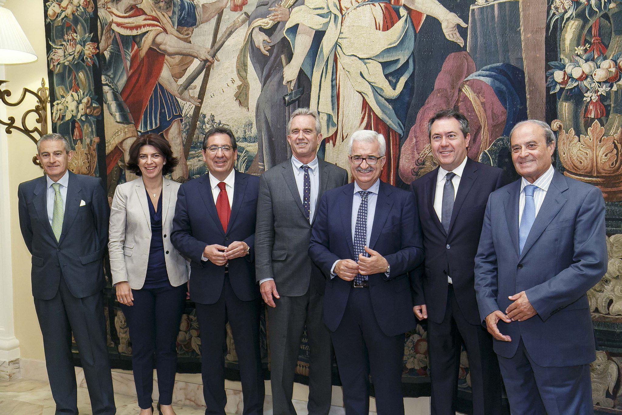 Antonio Pulido en los Desayunos Europa Press Andalucía con Robert F Kennedy Jr