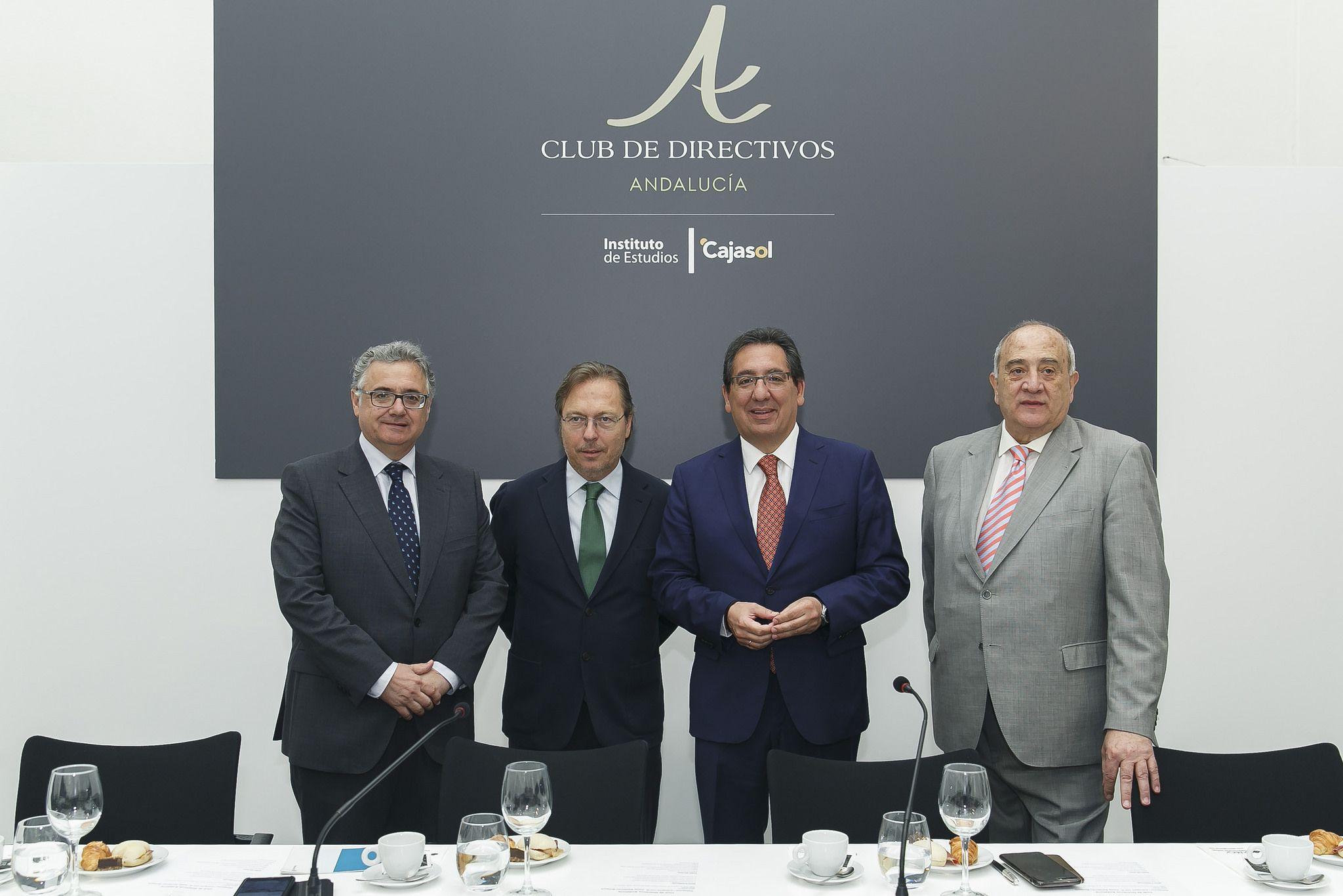 Desayuno del Club de Directivos con Josep Santacreu en el Instituto de Estudios Cajasol