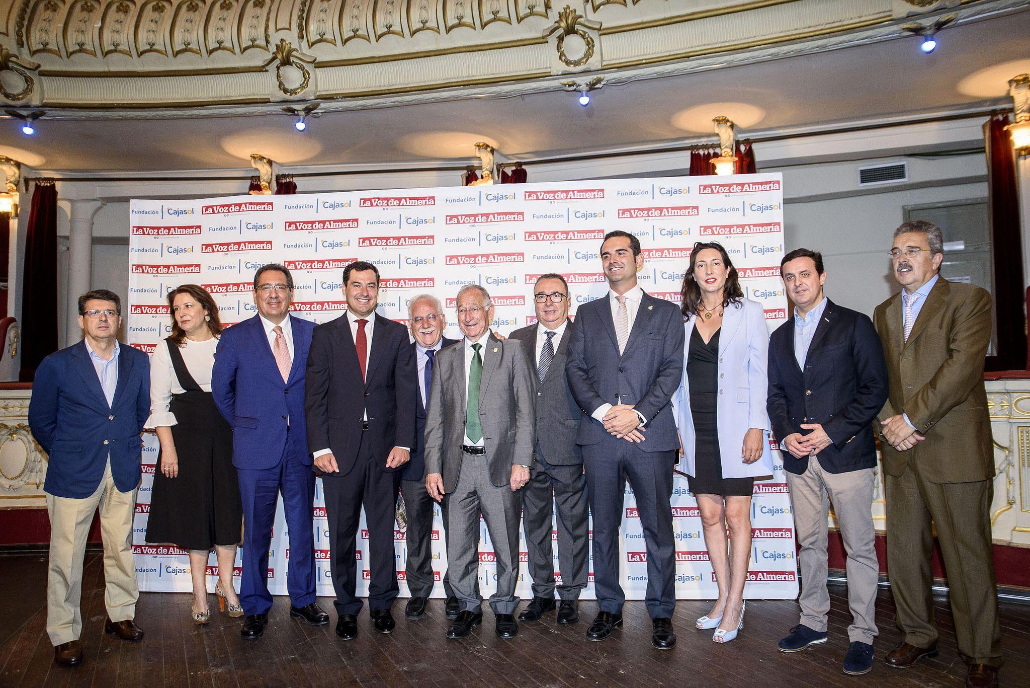 Antonio Pulido, Presidente de la Fundación Cajasol, en el Desayuno La Voz de Almería con el Presidente del PP de Andalucía