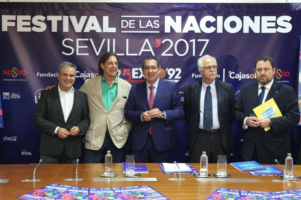 Presentación del Festival de las Naciones 2017 en la sede de la Fundación Cajasol