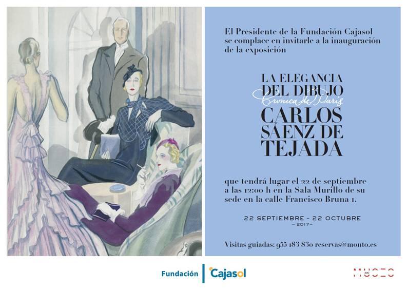 """La Fundación Cajasol inaugura la nueva temporada en la Sala Murillo con la Exposición """"La elegancia del dibujo Crónica de París. Carlos Sáenz de Tejada"""""""