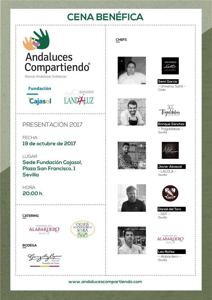 Cartel de la Gala Andaluces Compartiendo