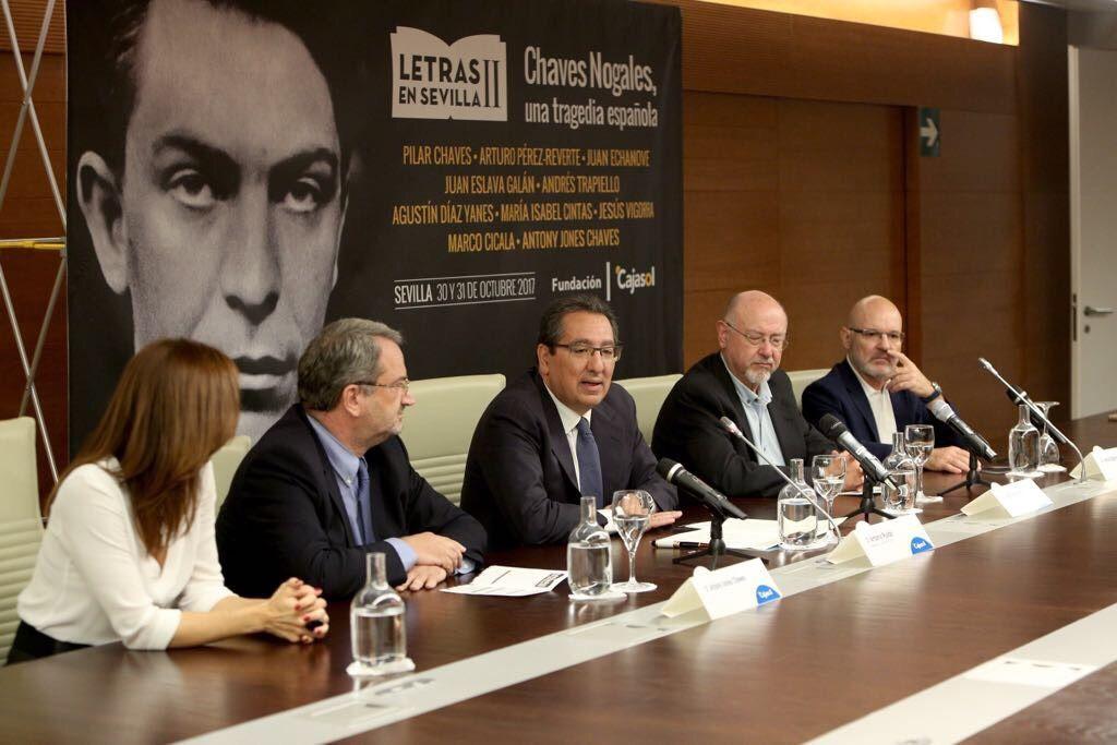 """La Fundación Cajasol pone en marcha la II edición de """"Letras en Sevilla"""", que reivindicará el valor de la obra y de la vida de Manuel Chaves Nogales."""