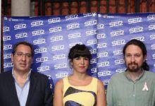Teresa Rodríguez y Pablo Iglesias de Podemos en Fundación Cajasol