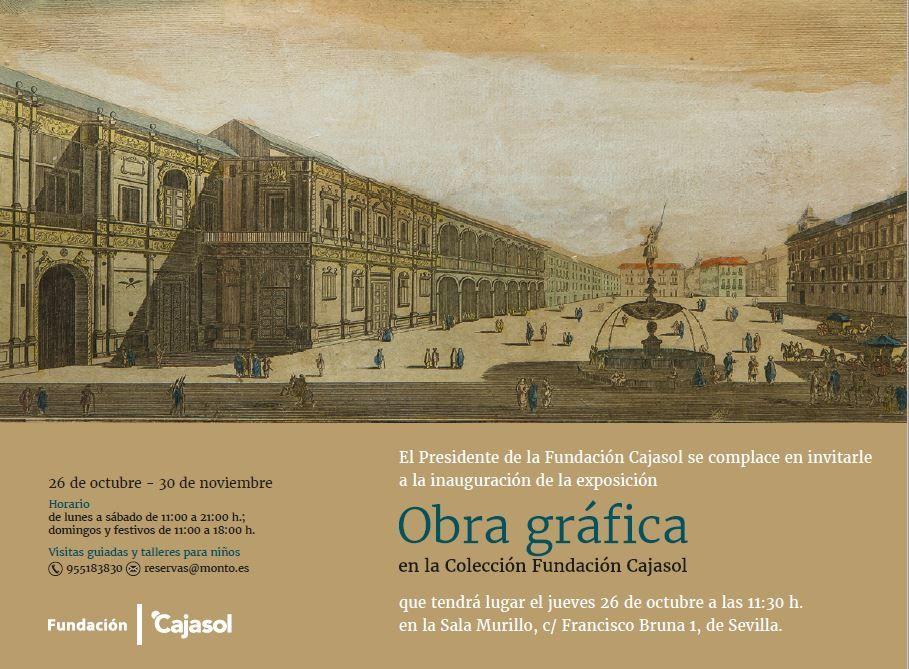 Inauguración este jueves 26 de octubre, a las 11.30 horas, de la exposición Obra gráfica en la Colección Fundación Cajasol, que acerca al público la parte más desconocida de la colección artística de la Fundación Cajasol.