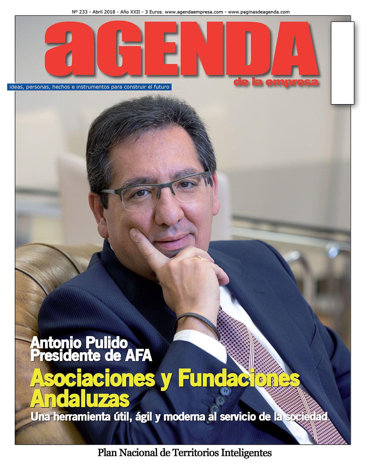 Entrevista con Manuel Bellido para el número 233 de la revista Agenda de la Empresa, en el que hablamos de la Asociaciones y Fundaciones Andaluzas y su labor en Andalucía y España.