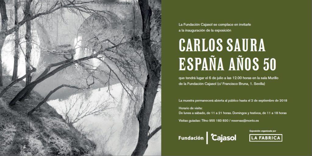 Mañana tendrá lugar la rueda de prensa con motivo de la inauguración de la muestra fotográfica ESPAÑA AÑOS 50. Carlos Saura, en la Fundación Cajasol.