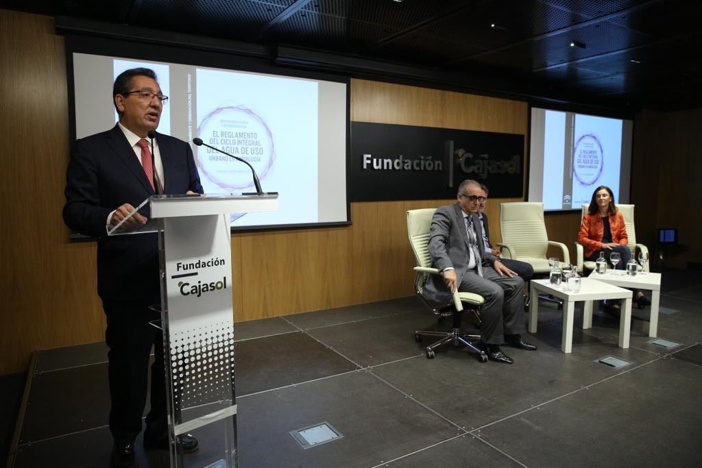 La Fundación Cajasol acoge la jornada Divulgativa y de Participación El reglamento del Ciclo Integral del Agua de Uso Urbano en Andalucía.