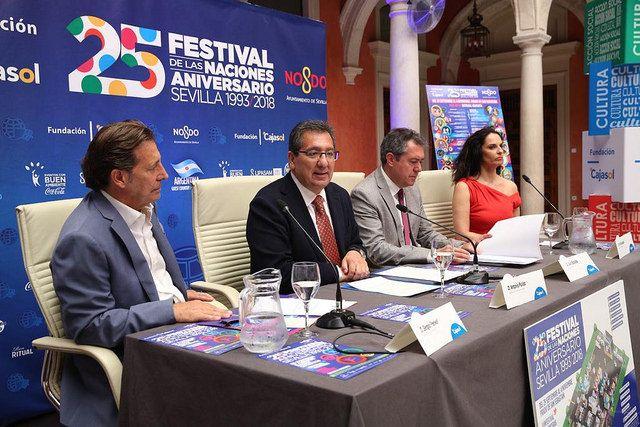 Antonio Pulido en la presentación del Festival de las Naciones 2018