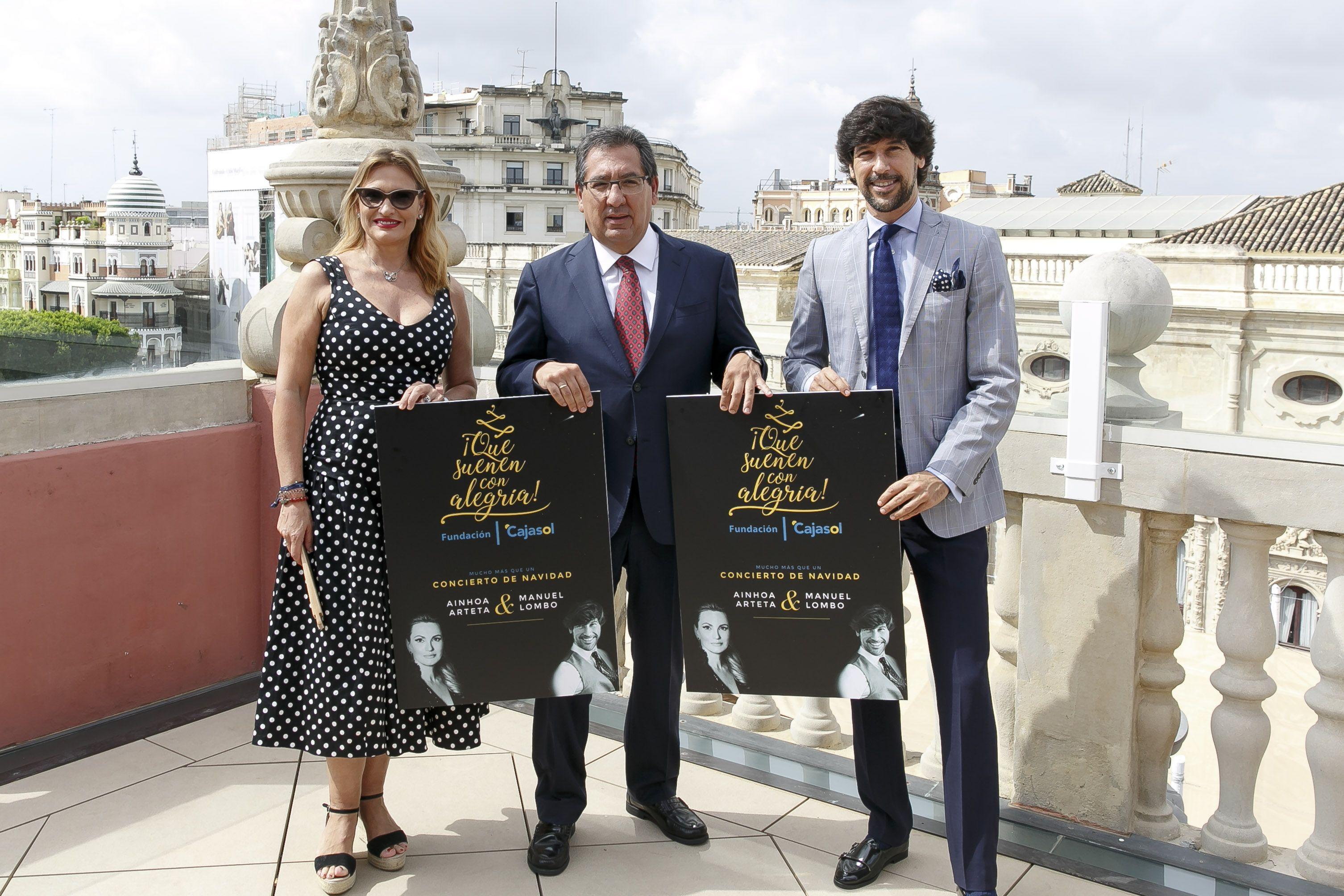 Ainhoa Arteta y Manuel Lombo protagonizarán los conciertos '¡Que suenen con alegría! Gira Diciembre 2018', que se ha presentado hoy en la Fundación Cajasol.