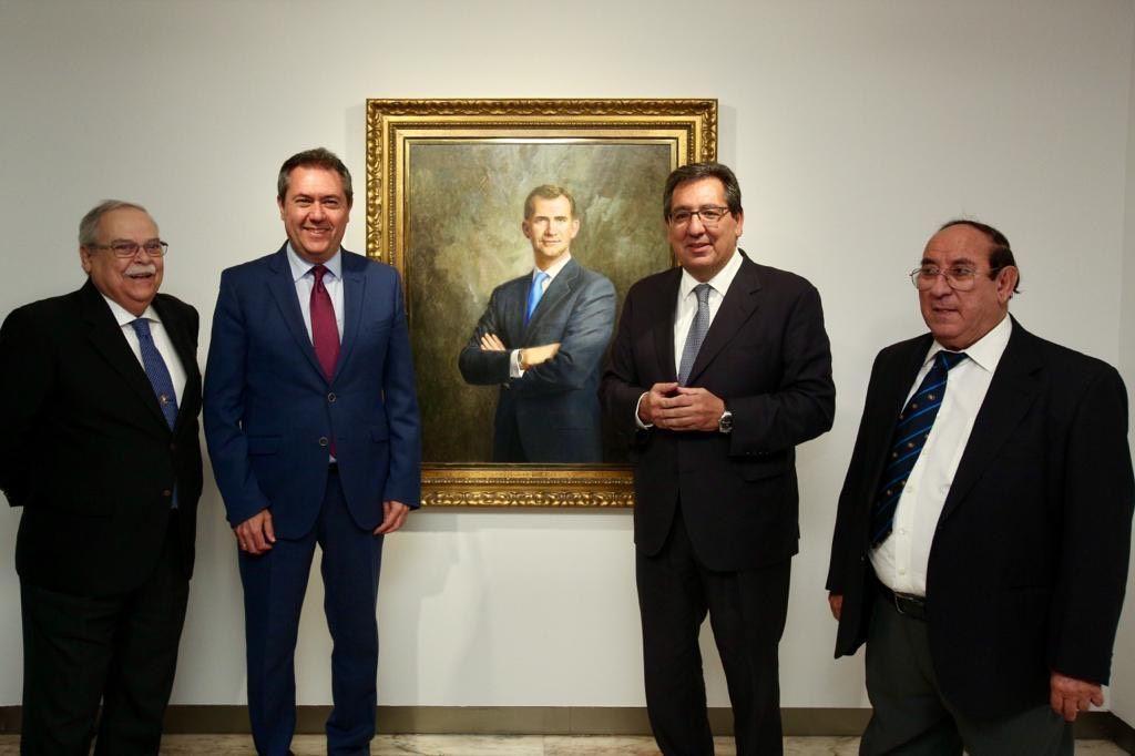 Felipe VI retratado en la Sala Murillo de la Fundación Cajasol