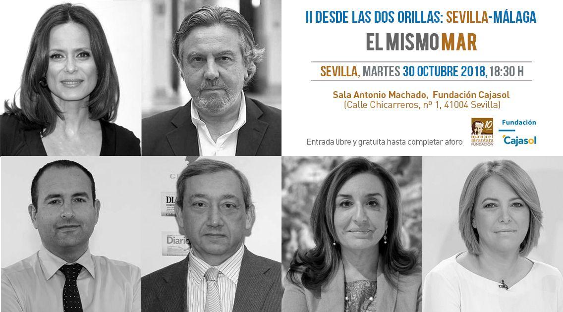 Aitana Sánchez-Gijón y Felipe Benítez Reyes en Cajasol
