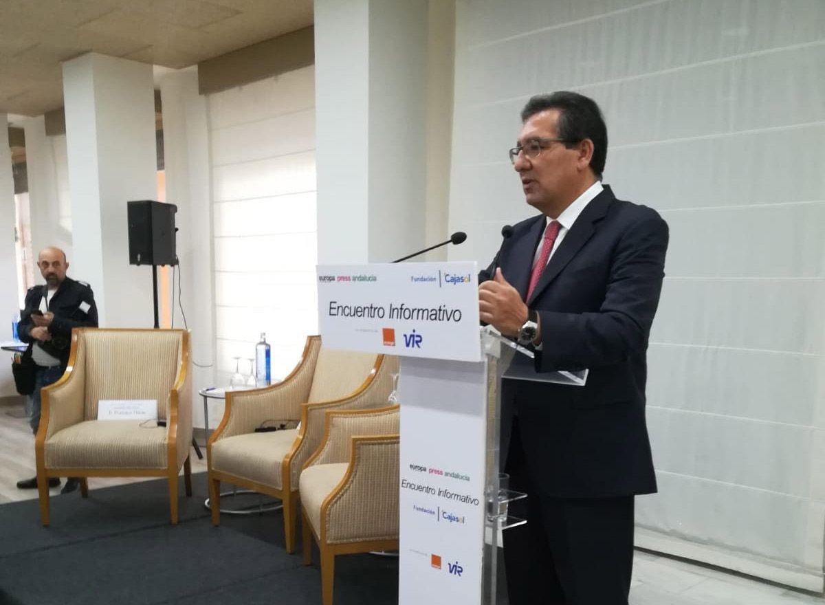 Antonio Pulido Gutiérrez en los Diálogos de Europa Press
