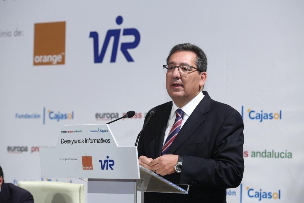 Antonio Pulido interviene en los Desayunos de Europa Press Andalucía