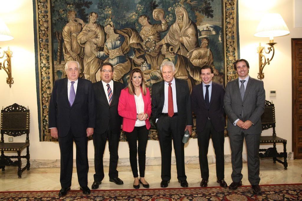 Felipe González, Susana Díaz y Antonio Pulido. Fundación Cajasol