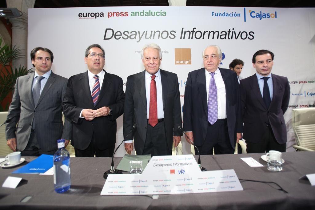 Felipe Gonzalez y Antonio Pulido Desayunos Europa Press