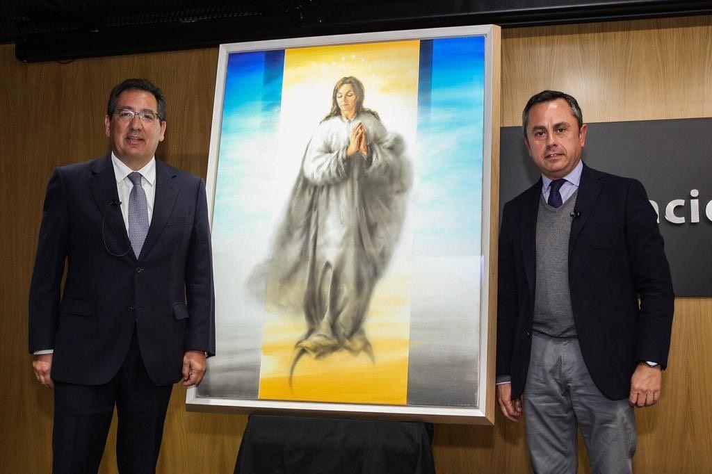 Antonio Pulido presenta cuadro de la Inmaculada