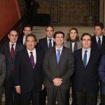 Antonio Pulido con los presidentes de la CEOE y ATA