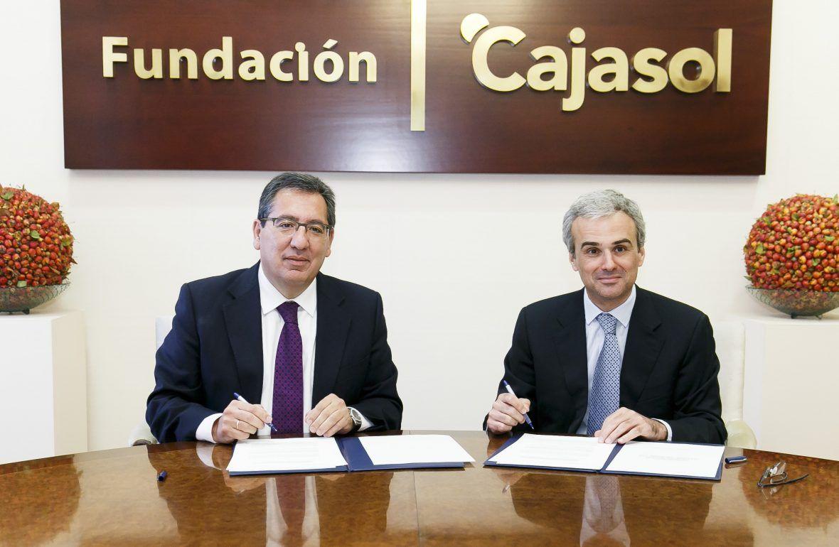 Antonio Pulido, Presidente de Fundación Cajasol, y José Manuel Lara, Presidente de la Fundación José Manuel Lara