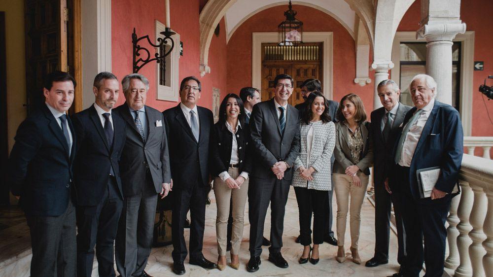 Juan Marín, Inés Arrimadas, Marta Bosquet, Antonio Pulido