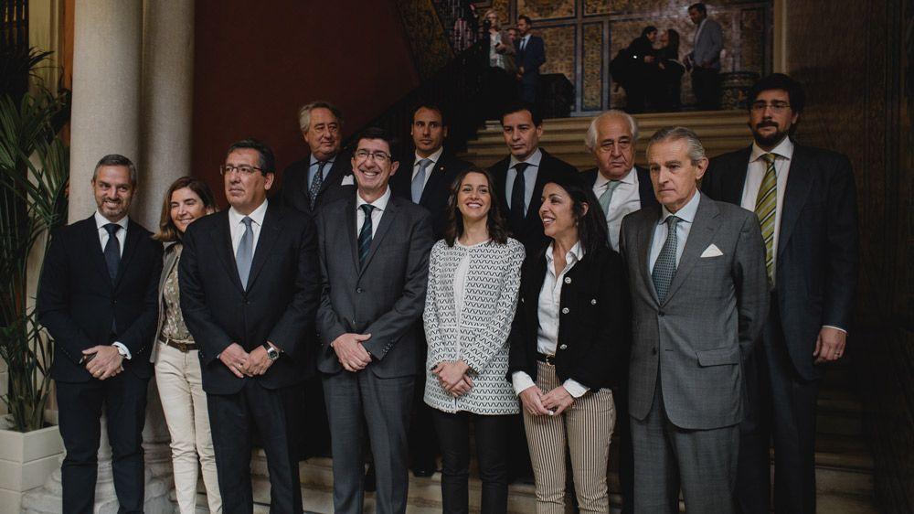 Juan Marín, Inés Arrimadas, Marta Bosquet