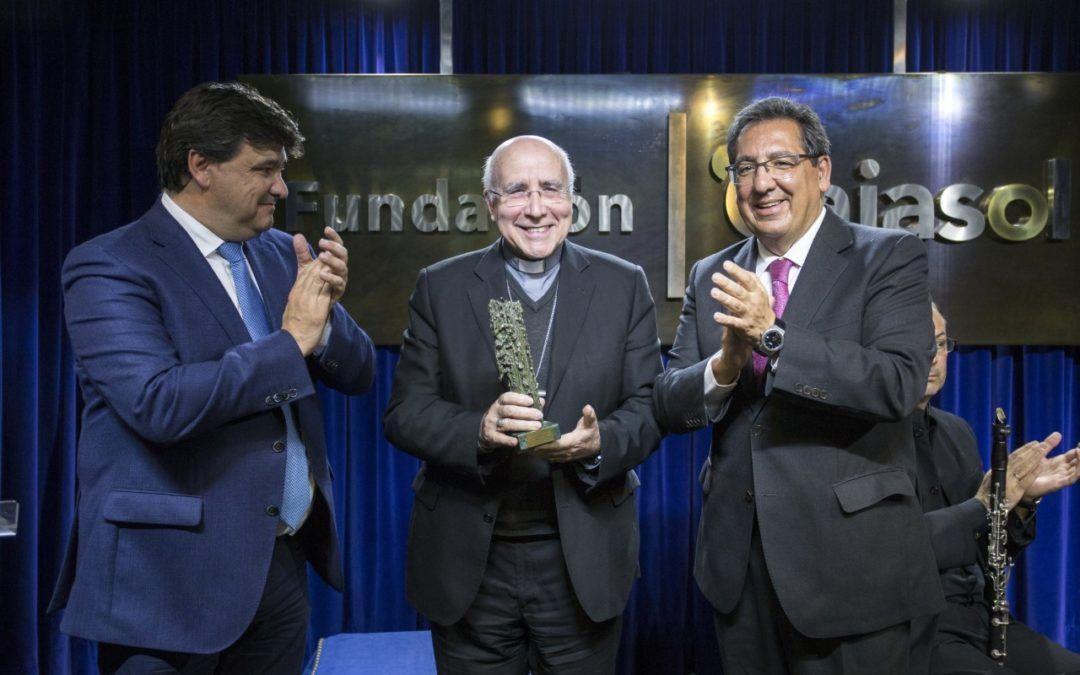 José María Vilaplana, Obispo de Huelva, premiado por la Fundación Cajasol