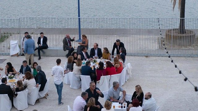 Cena de la Gala Solidaria en el Pabellón de la Navegación