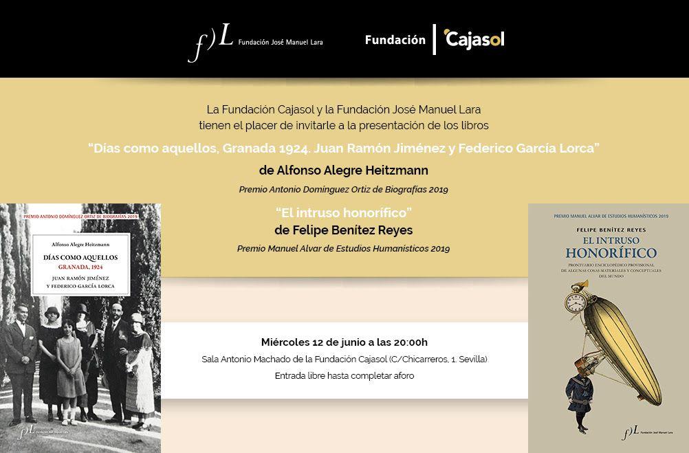 Presentación del Premio Antonio Domínguez Ortiz de Biografías y Manuel Alvar de Estudios Humanísticos 2019.