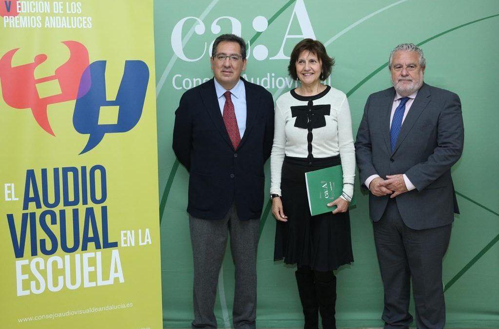 Acto de entrega de los Premios El Audiovisual en la Escuela en Fundación Cajasol