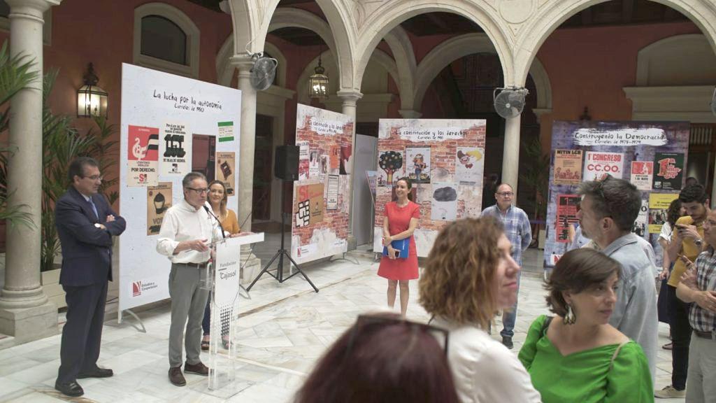 CCOO y Fundación Cajasol colaboran en la exposición Los Carteles del Cambio
