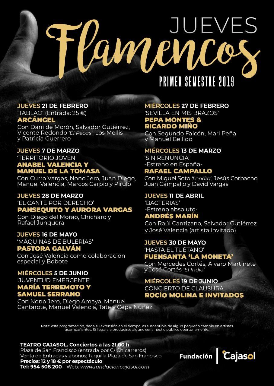 Juventud emergente en Jueves Flamencos de Cajasol