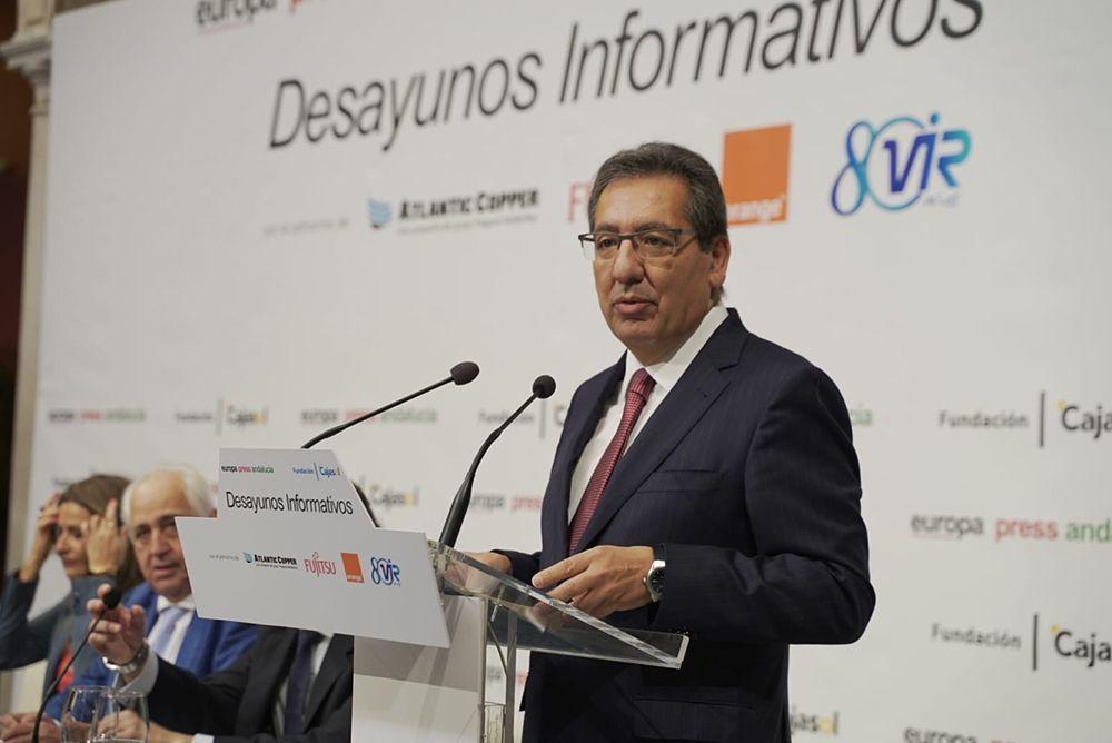 Antonio Pulido Desayunos Informativos de Europa Press en Cajasol