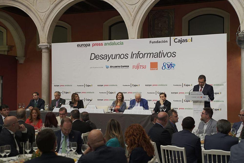 Antonio Pulido interviene en el Desayuno Informativo con Susana Diaz