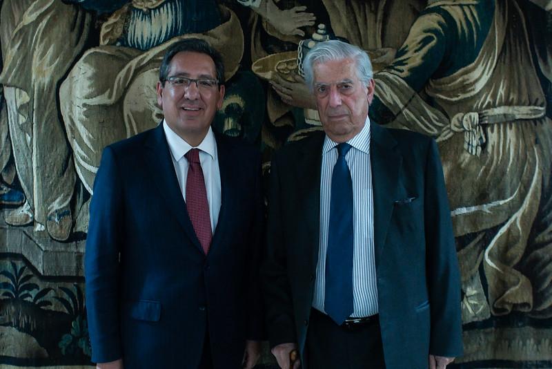 Antonio Pulido y Mario Vargas Llosa