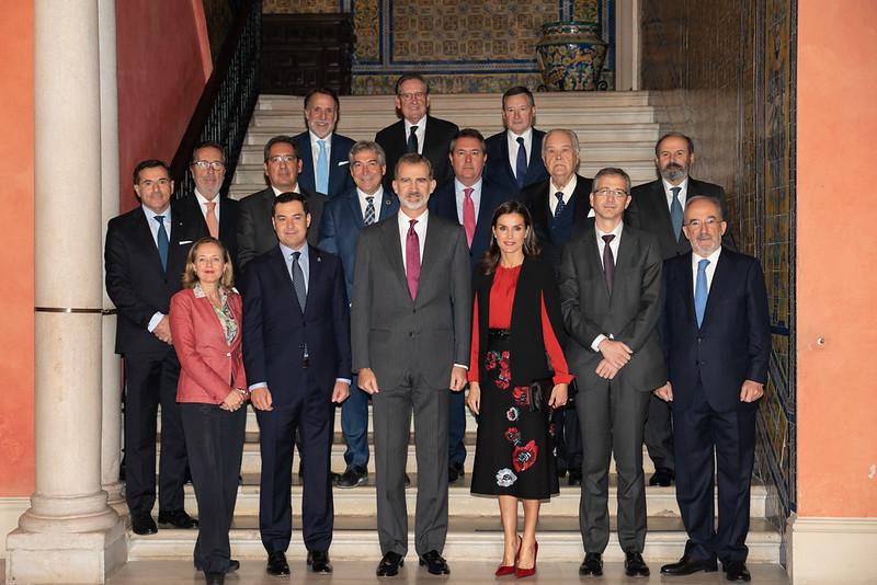 Foto de la visita de SSMM a la Fundación Cajasol