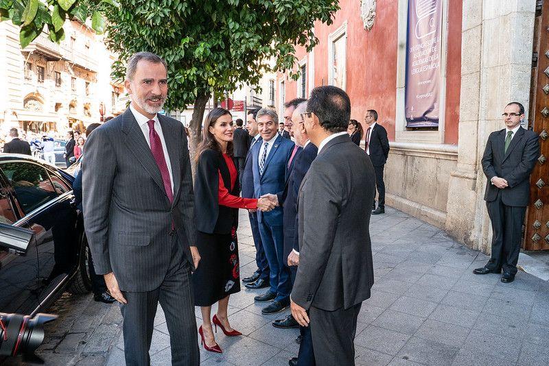 SSMM los Reyes llegan a la sede de la Fundación Cajasol en Sevilla