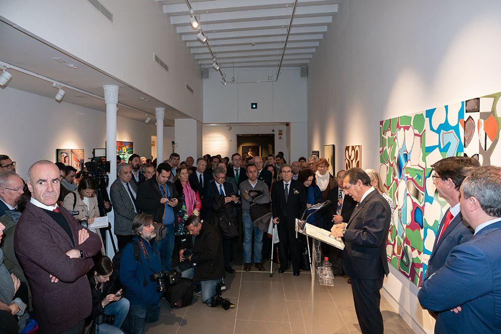 Periodistas congregados en Fundación Cajasol