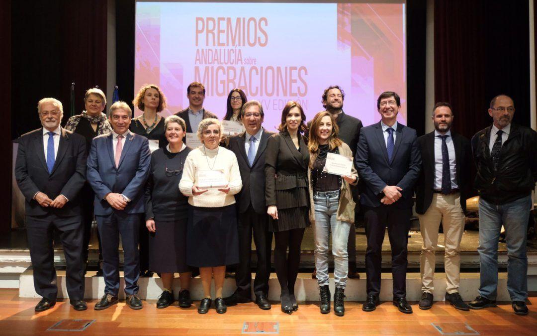 Entrega de los XV Premios Andalucía sobre Migraciones en la Fundación Cajasol
