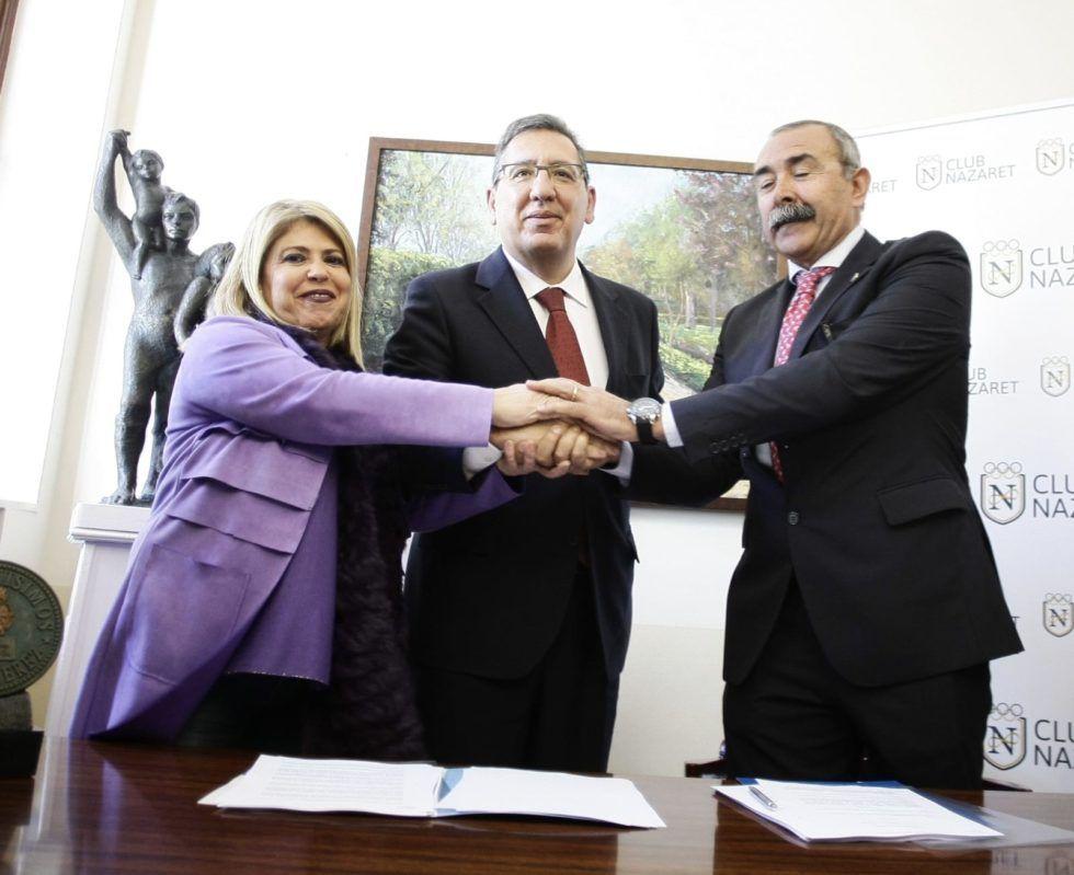 La Fundación Cajasol y el Club Nazaret presentan el proyecto sociodeportivo que se desarrollará en las instalaciones de Jerez  propiedad de la Fundación.