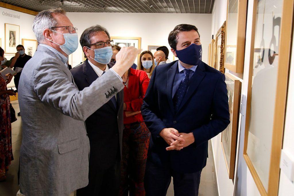 Antonio Pulido en la inauguración de Obra Gráfica, Fundación Cajasol Córdoba