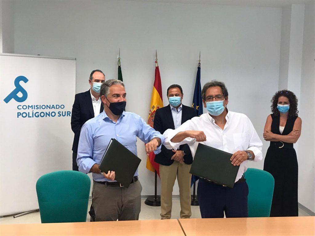 Polígono Sur: Cajasol y Junta de Andalucía realizarán proyectos conjuntos