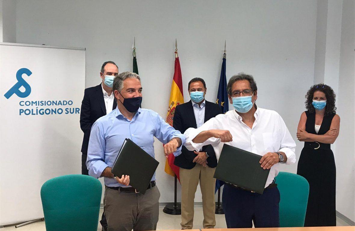 Polígono Sur: Cajasol y Junta de Andalucía realizarán proyectos conjuntos para proteger a los más débiles
