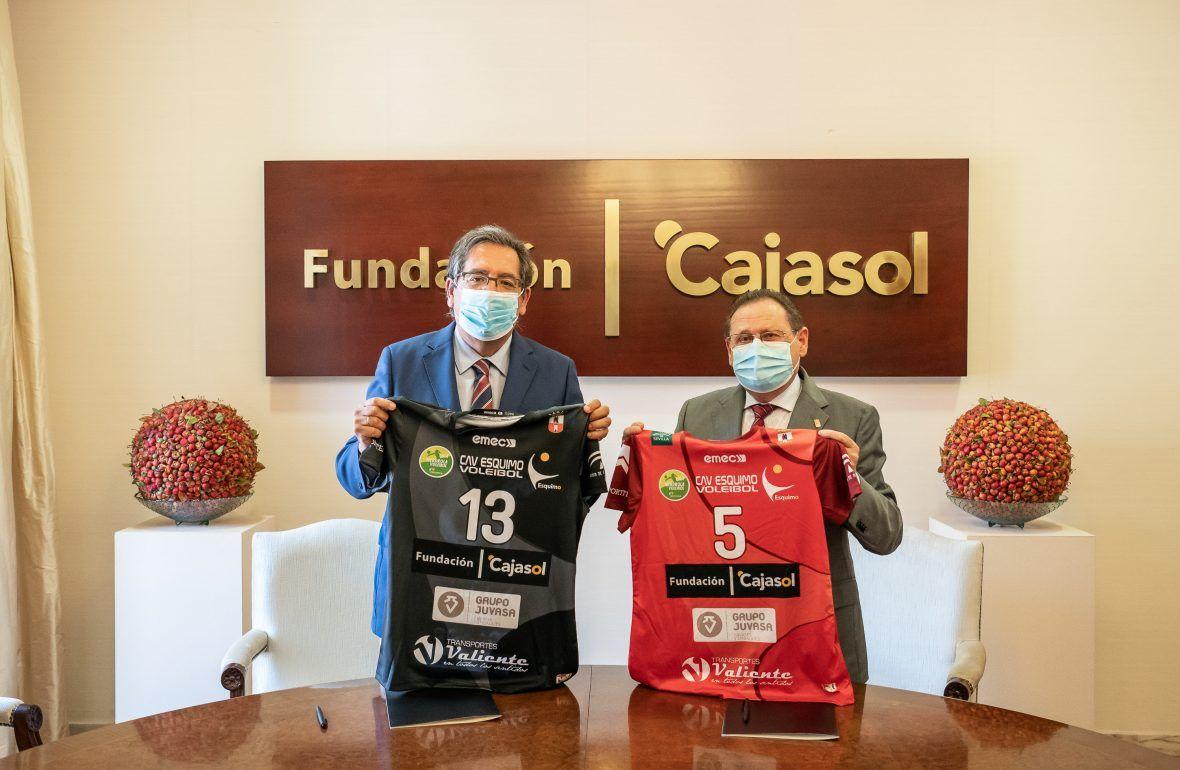 Renovación del convenio entre Cajasol y Voleibol Esquimo
