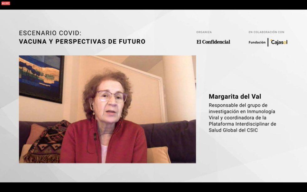 Encuentro digital con Margarita del Val y el 'Escenario COVID: vacuna y perspectivas de futuro'